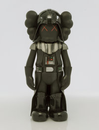 KAWS X Lucas Films Darth Vader, 2007 Painted cast vinyl 9-3/4 x 4-1/2 x 3-1/2 inches (24.8 x 11.4 x 8.9 cm) Stamped