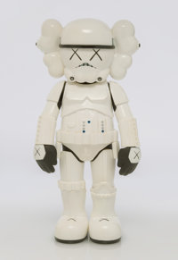 KAWS X Lucas Films Stormtrooper, 2008 Painted cast vinyl 9-3/4 x 4-1/2 x 3 inches (24.8 x 11.4 x 7.6 cm) Stamped to