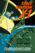 "Animation Art:Poster, Disneyland ""Space Station X-1"" Park Attraction Poster (Walt Disney, 1955)...."