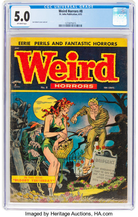 Weird Horrors #8 (St. John, 1953) CGC VG/FN 5.0 Off-white pages....