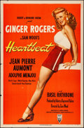 "Movie Posters:Romance, Heartbeat (RKO, 1946). Folded, Very Fine-. One Sheet (27"" X 41"").Romance.. ..."