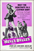 "Movie Posters:Exploitation, Hell's Belles (American International, 1969). Folded, Very Fine-.One Sheet (27"" X 41""). Exploitation.. ..."