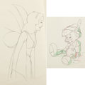 Animation Art:Production Drawing, Pinocchio Blue Fairy Pinocchio and Geppetto AnimationDrawings Group of 3 (Walt Disney, 1940).... (Total: 3 Original Art)