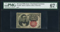 Fractional Currency:Fifth Issue, Fr. 1266 10¢ Fifth Issue PMG Superb Gem Unc 67 EPQ.. ...