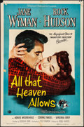 "Movie Posters:Drama, All That Heaven Allows (Universal International, 1955). Folded,Fine/Very Fine. One Sheet (27"" X 41""). Drama.. ..."