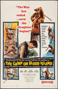 "Movie Posters:War, The Camp on Blood Island (Columbia, 1958). Folded, Fine+. One Sheet(27"" X 41"") & Lobby Card Set of 8 (11"" X 14""). War.. ...(Total: 9 Items)"