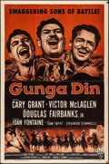 """Movie Posters:Action, Gunga Din (RKO, R-1954). Folded, Fine/Very Fine. One Sheet (27"""" X 41""""). Action.. ..."""