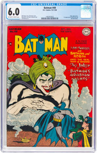 Batman #49 (DC, 1948) CGC FN 6.0 Off-white to white pages