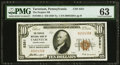 National Bank Notes:Pennsylvania, Tarentum, PA - $10 1929 Ty. 1 The Peoples NB Ch. # 5351 PMG Choice Uncirculated 63.. ...