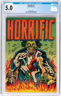 Horrific #1 (Comic Media, 1952) CGC VG/FN 5.0 Off-white to white pages