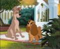 Animation Art:Production Cel, Lady and the Tramp Tramp and Lady Production Cel (WaltDisney, 1955)....