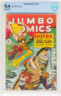 Golden Age (1938-1955):Adventure, Jumbo Comics #126 (Fiction House, 1949) CBCS NM 9.4 Off-white to white pages....