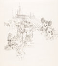 Animation Art:Production Drawing, Disney World Preliminary Illustration by David Grove (Walt Disney,c. 1980s)....