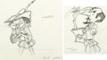 Animation Art:Production Drawing, A Witches Tangled Hare Bugs Bunny and Shakespeare AnimationDrawings Group of 2 (Warner Brothers, 1959).... (Total: 2 OriginalArt)