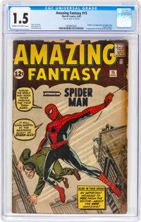 Amazing Fantasy #15 (Marvel, 1962) CGC FR/GD 1.5 Cream to off-white pages