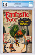 Silver Age (1956-1969):Superhero, Fantastic Four #5 (Marvel, 1962) CGC GD/VG 3.0 Cream to off-whitepages....