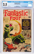 Silver Age (1956-1969):Superhero, Fantastic Four #1 (Marvel, 1961) CGC GD+ 2.5 Cream to off-whitepages....