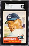 Baseball Cards:Singles (1950-1959), 1953 Topps Mickey Mantle #82 SGC VG/EX 4....