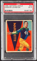 Football Cards:Singles (Pre-1950), 1935 National Chicle Chester Johnston #32 PSA EX 5....