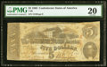 Confederate Notes:1863 Issues, T60 $5 1863 PF-11 Cr. 453 PMG Very Fine 20.. ...