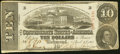 Confederate Notes:1863 Issues, T59 $10 1863 PF-26 Cr. 443 Very Fine.. ...