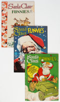 Golden Age (1938-1955):Humor, Santa Claus Funnies Group of 3 (Dell, 1942-47) Condition: Average VG.... (Total: 3 Comic Books)