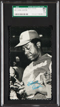 Baseball Cards:Singles (1970-Now), 1974 Topps Deckle Edge Hank Aaron #57 SGC 86 NM+ 7.5....