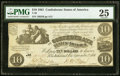 Confederate Notes:1861 Issues, T28 $10 1861 PF-7 Cr. 235 PMG Very Fine 25.. ...