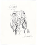 Original Comic Art:Illustrations, Jeremy Bastian - Faun Creature from Pan's LabyrinthIllustration Original Art (undated)....