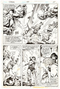 Original Comic Art:Panel Pages, John Buscema and Ernie Chan Conan The Barbarian #99 StoryPage 15 Bêlit Original Art (Marvel, 1979)....