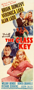 "Movie Posters:Film Noir, The Glass Key (Paramount, 1942). Very Fine- on Paper. Insert (14"" X 36"").. ..."