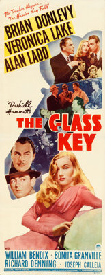 "The Glass Key (Paramount, 1942). Very Fine- on Paper. Insert (14"" X 36"")"