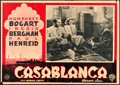 "Movie Posters:Academy Award Winners, Casablanca (Warner Brothers, 1946). Fine/Very Fine. First Post-War Release Italian Photobusta (19"" X 13.5"").. ..."
