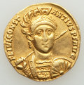 Ancients:Roman Imperial, Ancients: Constantius II, as Augustus (AD 337-361). AV solidus (19mm, 3.95 gm, 6h). VF, clipped, edges filed, brushed....