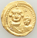 Ancients:Byzantine, Ancients: Heraclius (AD 610-641) and Heraclius Constantine. AVsolidus (19mm, 4.43 gm, 7h). VF....