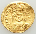 Ancients:Byzantine, Ancients: Maurice Tiberius (AD 582-602). AV solidus (22mm, 4.40 gm,6h). VF....