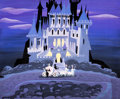 Animation Art:Concept Art, Mary Blair Cinderella Coach and Castle Concept/Color Key Painting (Walt Disney, 1950)....