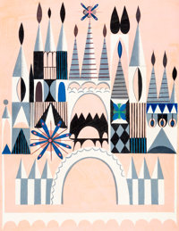 "Mary Blair ""It's a Small World"" Castle Facade Concept Painting (Walt Disney, 1964)"