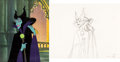 Animation Art:Production Cel, Sleeping Beauty Maleficent and Diablo Production Cel andAnimation Drawing (Walt Disney, 1959).... (Total: 2 Items)