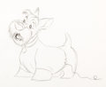 Animation Art:Production Drawing, Lady and the Tramp Jock Animation Drawing (Walt Disney,1955)....