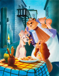 "Animation Art:Poster, ""Beautiful Night"" Lady and the Tramp Limited Edition FineArt Giclee #210/400 (Walt Disney, ..."