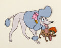 Animation Art:Production Cel, Oliver and Company Georgette and Tito Production Cel (WaltDisney, 1988)....