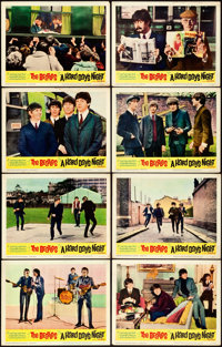 "A Hard Day's Night (United Artists, 1964). Fine/Very Fine. Lobby Card Set of 8 (11"" X 14""). ... (Total: 8 Item..."