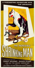 "Movie Posters:Science Fiction, The Incredible Shrinking Man (Universal International, 1957). Folded, Very Fine-. Three Sheet (41"" X 79""). Reynold Br..."