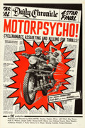 Movie Posters:Exploitation, Motor Psycho! (Eve Productions, 1965). Folded, Very Fine.