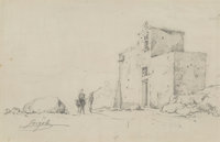 Italian School (19th Century) Group of Two Drawings Pencil on paper, each 6-5/8 x 10-1/4 inches (