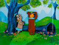 Animation Art:Production Cel, Hey There It's Yogi Bear Yogi and Cindy Bear Production CelWith Production Background (Hanna-Barbera, 1964)....