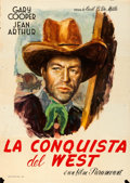 Movie Posters:Western, The Plainsman (Paramount, Mid-1940s). Folded, Fine+.