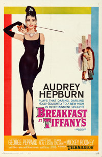 "Breakfast at Tiffany's (Paramount, 1961). Folded, Very Fine+. One Sheet (27"" X 41""). Robert McGinnis Artwork..."