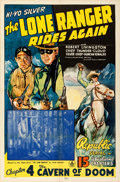 Movie Posters:Serial, The Lone Ranger Rides Again (Republic, 1939). Folded, Fine...